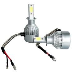 Beli 2 Pcs Lampu Headlight High Power Led Mobil Lampu 6000 K Cree Cob Led Universal Aplikasi Warna H3 Intl Seken