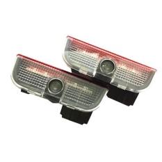 2 Pcs LED Bulb Pintu Mobil Proyeksi Logo Selamat Datang Lampu Sorot untuk Volkswagen-Intl