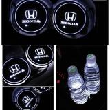 Promo 2 Pcs Led Mobil Lemari Light Cup Mat Lampu Led Logo Mobil Untuk Honda Putih Intl Oem Terbaru