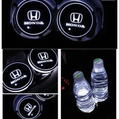 Penawaran Istimewa 2 Pcs Led Mobil Lemari Light Cup Mat Lampu Led Logo Mobil Untuk Honda Putih Intl Terbaru