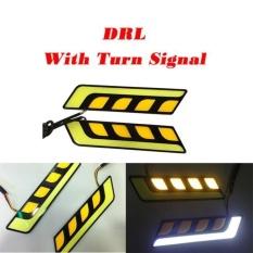 Jual Beli 2 Pcs Led Cob Fog Lamp Mobil Siang Hari Drl Tahan Terhadap Udara With Turn Signal Intl