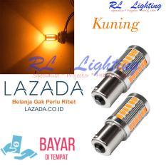 2Bh Led Sein Mobil Bayonet Lensa 1 Kaki 1156 W5W 5630 33 Smd Kuning North Sumatra Diskon