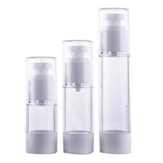 2 Pcs Mini Portable Airless Botol Kosmetik 15 Ml 30 Ml Pompa Cover Travel Perawatan Kulit Kosong-Intl