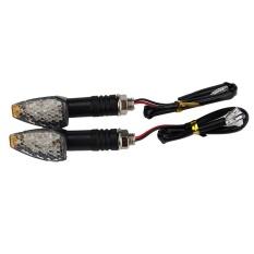 2 Pcs Mini Tangkai Panah Sepeda Motor Lampu Sein LED Indikator Pengedip Lampu Fit-Intl