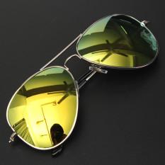 Jual Beli 2Pcs Mirror Aviator Pilot Style Silver Metal Frame Sunglasses Shades Uv400 Silver Frame Orange Baru Indonesia