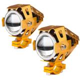 Beli 2 Buah Moto U7 Led Lampu Kabut Mobil Sepeda Motor Lampu Led Lampu Spot Sorot Lampu Depan Mobil Emas Internasional