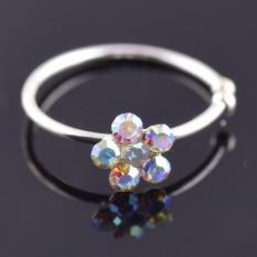 2 Pcs Plum Blossom Hidung Cincin Kristal Pesona Bunga Hidung Ring-Intl