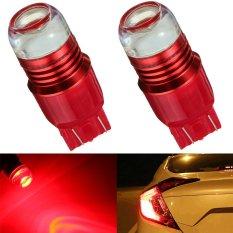 2 Pcs Merah Sorot Berkedip 7443 LED Proyektor Bohlam Lampu Rem untuk Mobil Ekor-Intl