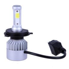 2 Pcs S2 Mobil 20000LM LED Headlight Mobil Lampu Depan 360 Beam Bulbs (Perak) -H4/HB2/9003