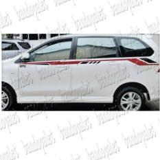 2pcs Sticker Mobil Avanza Xenia Stiker Cutting Keren Murah Pintu Kaca Sport Sticker Stiker Body Pintu Bodi Samping Mobil Avanza Xenia