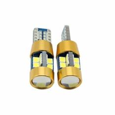 2PCS T10 3030 LED W5W Car LED Auto Lamp 12V Light Bulbs with Projector Lens for Kia Sportage Rio K2 K3 K5 Ceed Cerato Sorento (white) - intl