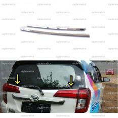 2Pcs Toyota Calya Daihatsu Sigra Garnish Lis Cover Kaca Belakang Garnis List Chrome Krom Silver Calya Sigra Window Liner Trunklid Trunk Lid Diskon Indonesia