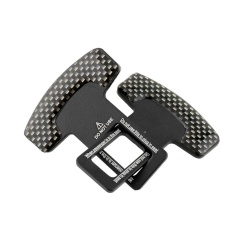 2 Pcs Truk ATV Carbon Fiber Safety Seat Belt Buckle Stopper Alarm Hitam-Intl