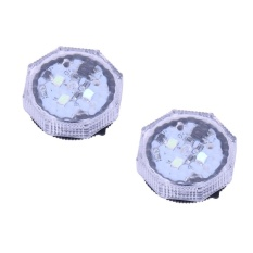 2 Pcs Universal Nirkabel Mobil Door LED Dibuka Peringatan Flash Light Anti-Collide With STH (Biru)-Intl