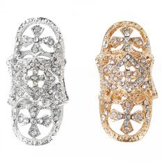 2 Pcs Vintage Punk Berlian Imitasi Berongga Bersama Modis Hadiah Perhiasan Pria