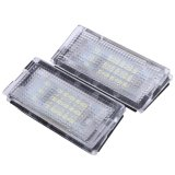 Review 2 Pcs Putih 18 Led Lampu Plat Nomor Lampu Bulbs Untuk Bmw E46 4D 98 03 Intl Oem