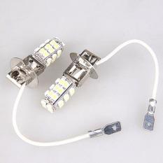 2 Pcs Xenon COOL Putih 28 SMD LED H3 Kabut Bohlam Lampu Kepala Mobil Bright DIY