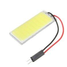 2 Pcs Xenon HID Putih 36 COB LED Dome Peta Lampu Mobil Interior Panel Lampu