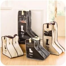 2PCS/Long Travel Shoes Bag Organizer Portable Foldable Long BootsCover(Mix Color) TUBULAKA - intl
