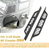 Harga 2 Pcs Pair Metal Side Pedal Plate Untuk 1 10 Crawler Model Mobil Rc4Wd D90 Body Black Intl Yang Bagus
