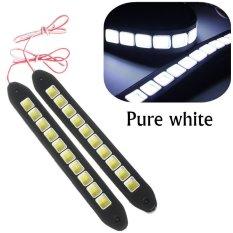 Jual 2X16 W Mobil Fleksibel Silicone Cob 10 Lampu Led Mengemudi Drl Lampu Siang Hari Cahaya Led Putih Internasional Baru