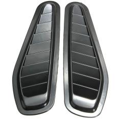 2X Mobil Dekoratif Aliran Udara Masuk Tudung Ventilasi Kap Mesin Fender  Grill Universal OB0522 Hitam- 84f6f41576