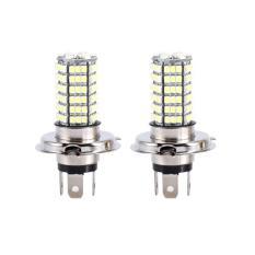 2X H4 120 SMD Mobil Ringan Bohlam Hai/Rendah Sorotan LED Kabut Lampu Depan 9003