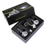 Jual 2X H4 Led Light Headlight Kendaraan Mobil Hi Lo Beam Bulb Kit 6000 K 60 W 6000Lm Putih Intl Oem Grosir