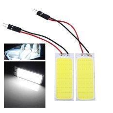 2X HID Bright 36 COB LED Tahan Lama Panel Light untuk Mobil Auto Interior Lampu Putih-Intl