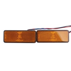 2X Universal Mobil ATV SUV 12 V Merah 24 LED Stop Fog Tail Brake Light Lampu-Intl