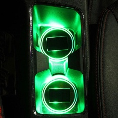 3 Colors Car Anti-Slip Mat Solar Led Light Lampu Cup Holder Mat Botol Minuman-Intl By Mingrui