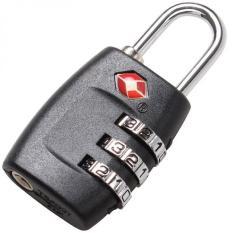 3-Digit TSA Lock Resettable Kombinasi Kunci Gembok Koper Bagasi Perjalanan (Hitam)