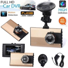 3 Inch Full Hd 1080 P Mobil Dvr Dash Kamera G-Sensor Perekam Video Usb Emas-Intl By Mingrui.