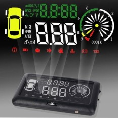 3 inch OBD II Car HUD Head Up Display with Speed Fatigue Warning RPM MPH Fuel Consumption - intl