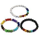Jual 3 Pcs 3 A Unisex 7 Chakra Gemstone Beaded Gelang Yoga Reiki Doa Energi Penyembuhan Keseimbangan Gelang Perhiasan Internasional Online