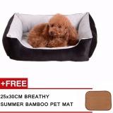 Beli 30X45 Cm Mudah Dicuci Pets Tempat Tidur Tebal Anjing Sofa Lembut Punny Tidur Mewah Dog Tikar Pet Nest Kandang Anjing Aksesoris Hitam Cicilan