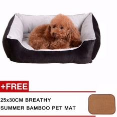 Jual Cepat 30X45 Cm Mudah Dicuci Pets Tempat Tidur Tebal Anjing Sofa Lembut Punny Tidur Mewah Dog Tikar Pet Nest Kandang Anjing Aksesoris Hitam