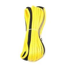 Harga 3 16 X 50 Sintetis Winch Line Cable Rope 5500 Lbs Selubung Untuk Atv Utv Kuning Intl Asli Oem