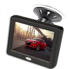 3.5 Inch TFT LCD Warna Mobil Rear View Monitor Screen untuk Parkir Rear View Cadangan Kamera dengan 2 Opsional Bracket -Intl