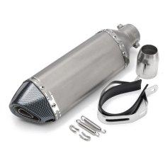 Harga 36 51Mm Universal Motor Black Carbon Fiber Exhaust Muffler Pipa Internasional Baru