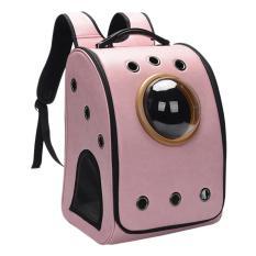 360DSC Astronot PET REKA PU Kucing Anjing Pembawa Hewan Peliharaan Breathable Bahu Travel Bag 32*