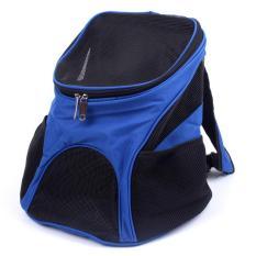 360DSC Perjalanan Luar Ruangan Portabel Tas Punggung Pembawa Peliharaan untuk Anjing Kucing-Biru-Intl