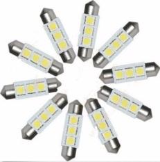36mm 5050 SMD 3 LED Festoon Kubah Mobil Auto Light Interior Lampu Bulb 12 V 10 Pcs-Intl