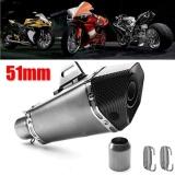 36Mm 51Mm Sepeda Motor Universal Aluminium Full Exhaust Muffler Pipa Sistem Baru Titanium Body Carbon Mulut Intl Murah