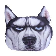 3D Dog Printing Sofa Cushion Leher Bantal Mobil Perjalanan Headrest Hadiah Ulang Tahun (Hitam)-Intl