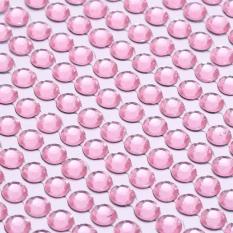 3 Mm Multi Warna Permata Kristal Gemerlap Mobil Rhinestone Stiker Rekat (Merah Muda)-