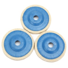Jual 3Pcs 100Mm 4Inch Grinding Pad Wool Polishing Disc Abrasive Wheel Felt Buffer Set Intl Branded Murah