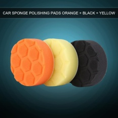 Jual Beli 3Pcs 4Inch 100Mm Sponge Polishing Buffing Waxing Pad Kit For Car Polisher Orange Black Yellow Intl Di Tiongkok