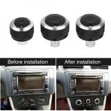 Review 3 Pcs Aluminium Car Air Condition Panel Kontrol Switch Knob Untuk Volkswagen Vw Golf 5 Mk5 2005 2009 Intl Oem Di Tiongkok