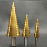 Review Pada 3 Pcs Cone Langkah Bor Bit Titanium Hss Reamer Segitiga Kepala Dilapisi Kit Set Intl